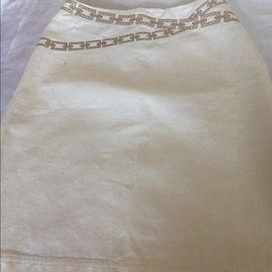 Valentino Vintage Cream Denim Skirt Size 5/6